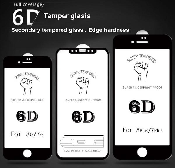 kinh cường lực 6D iphone