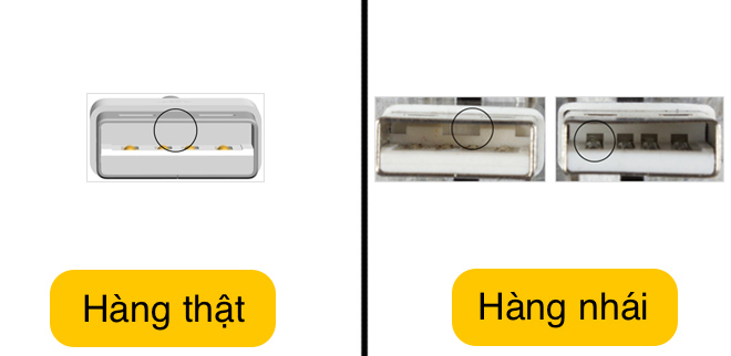 nhan biet cap sac iphone chinh hang