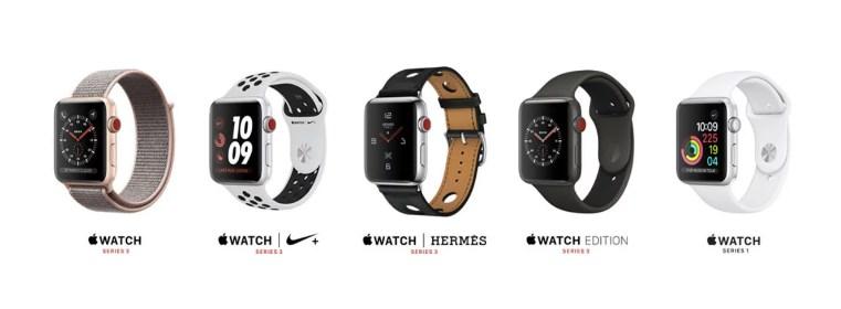 phân biệt các loại apple watch