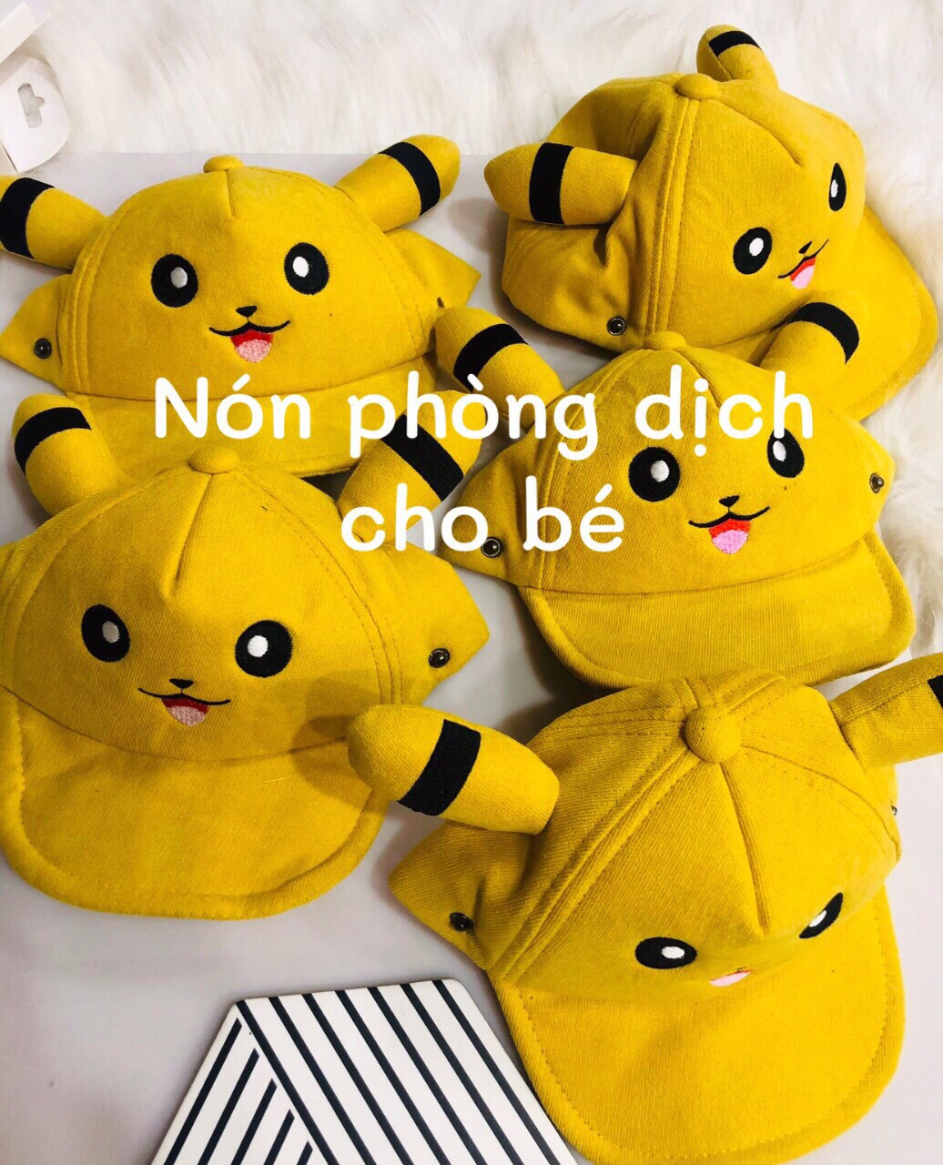 Mũ Chống Dịch Cho Bé