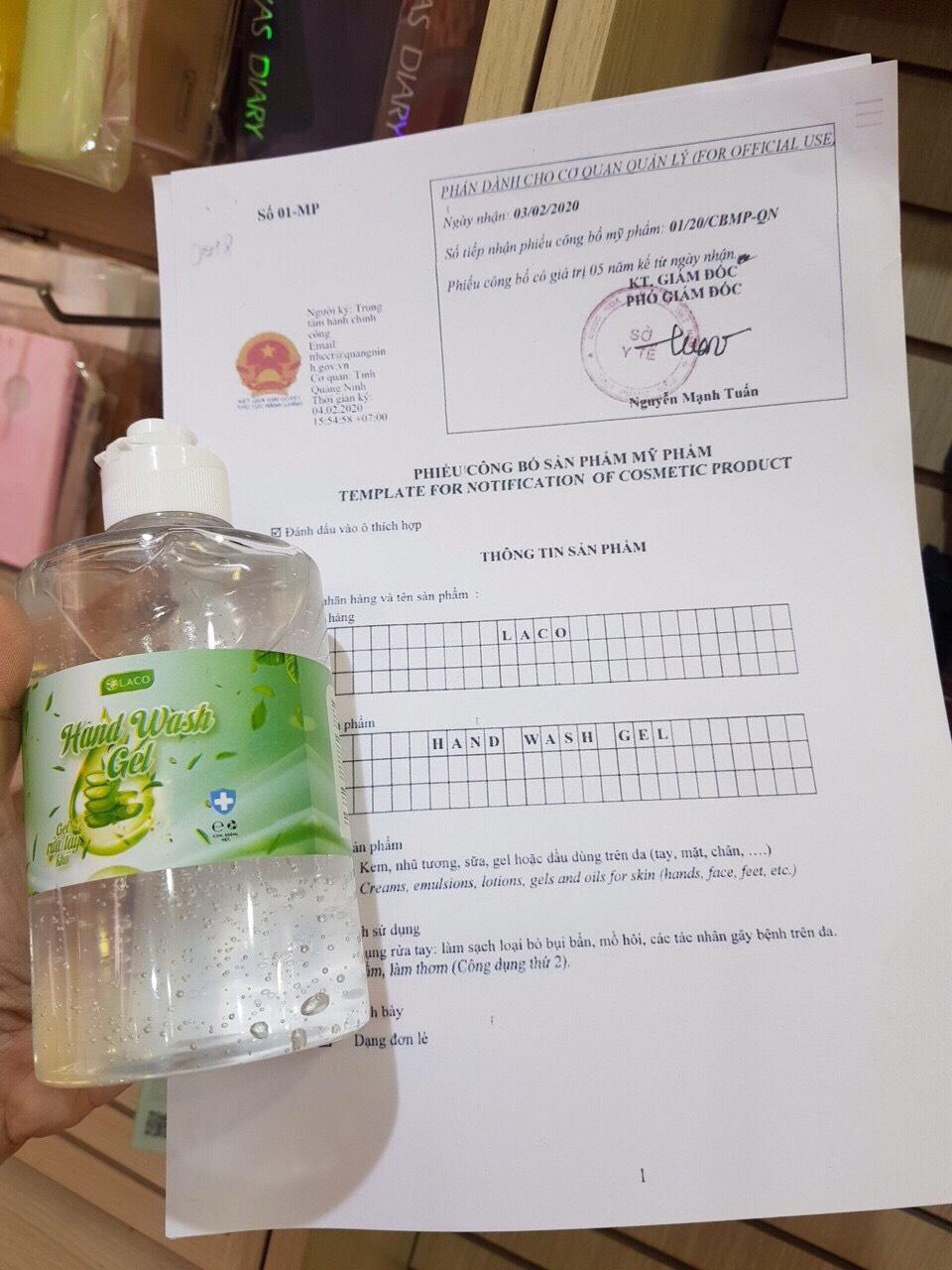 Nước Rửa Tay Khô Laco 500ml