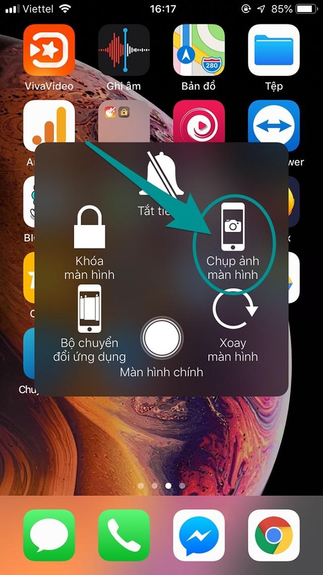 Hướng dẫn cách chụp màn hình iphone