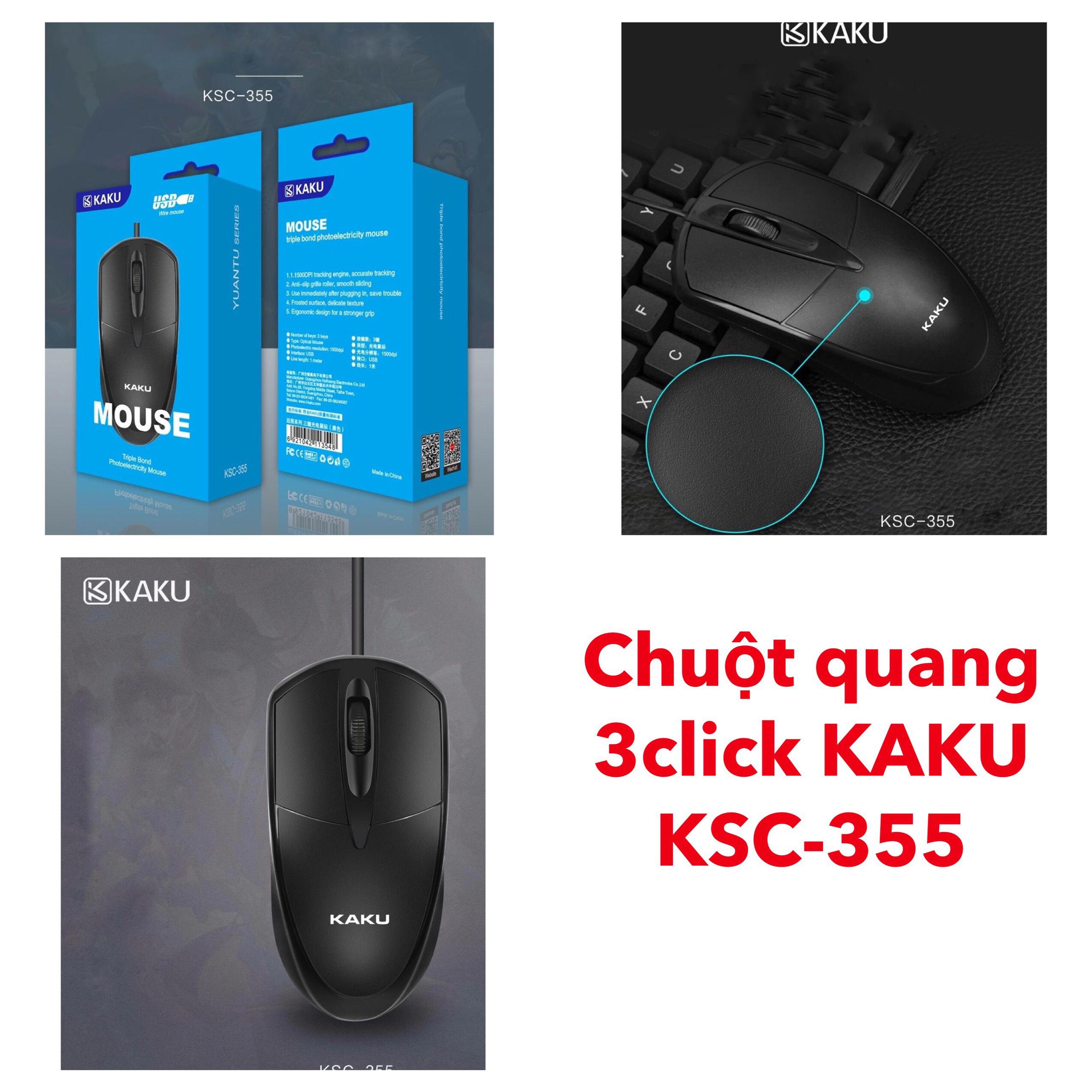 Chuột quang 3 nút Click KAKU-KSC-355