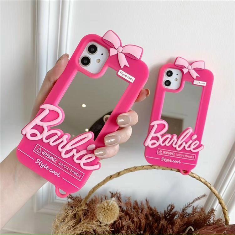 Case Barbie Gương hồng bánh bèo