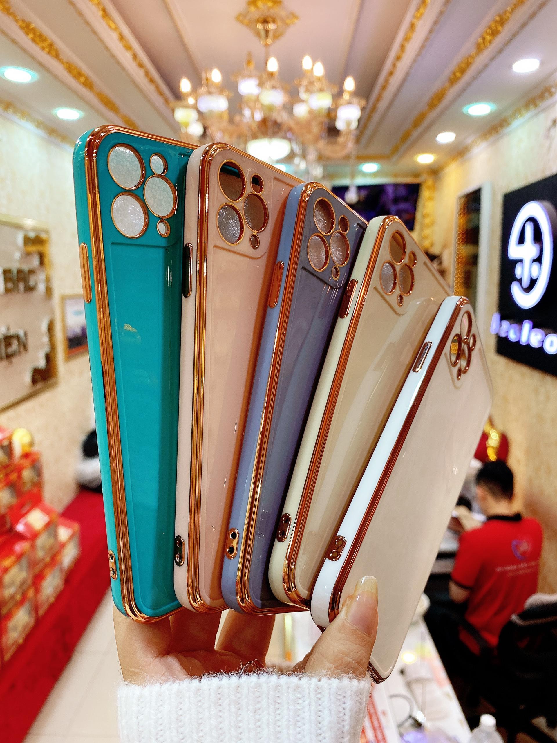 Ốp Viền Vuông Độ iPhone 12 Mạ Crom Phiên Bản New