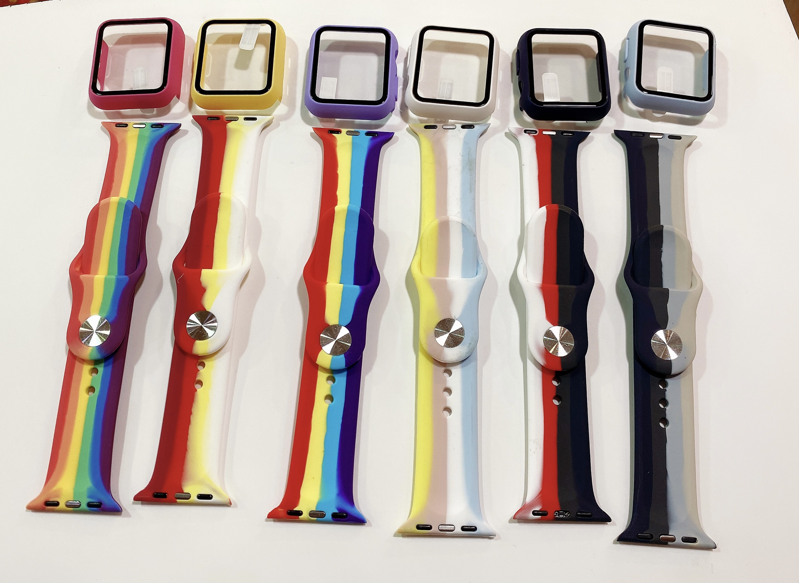 Set Dây Đeo Apple Watch Cầu Vồng