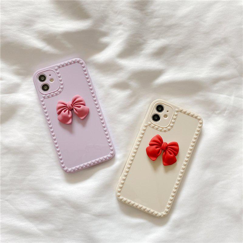 Ốp Dẻo Vuông Nơ Giả iPhone12