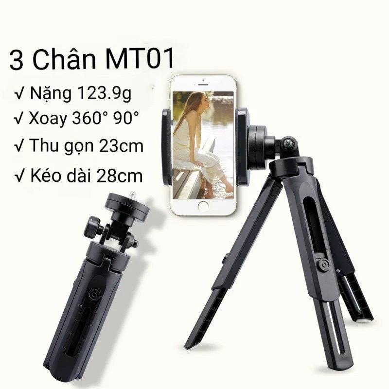 GẬY 3 chân mini TRIPOD SUPPORT MT01
