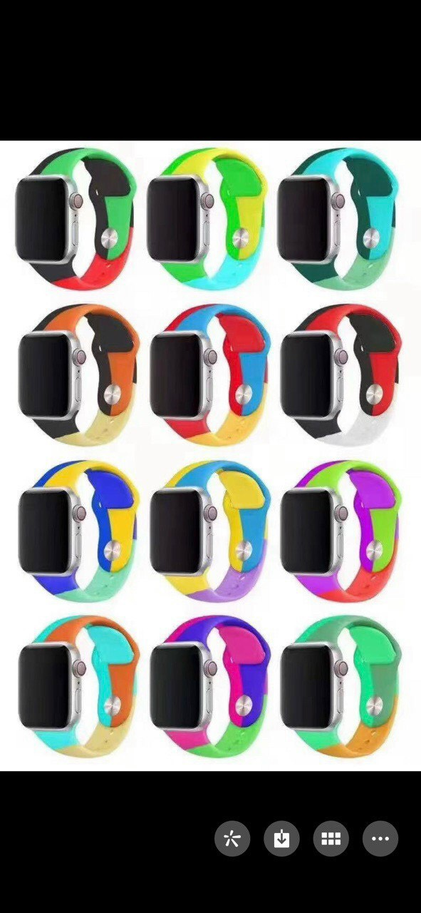 DÂY APPLE WATCH SILICON 3 MÀU