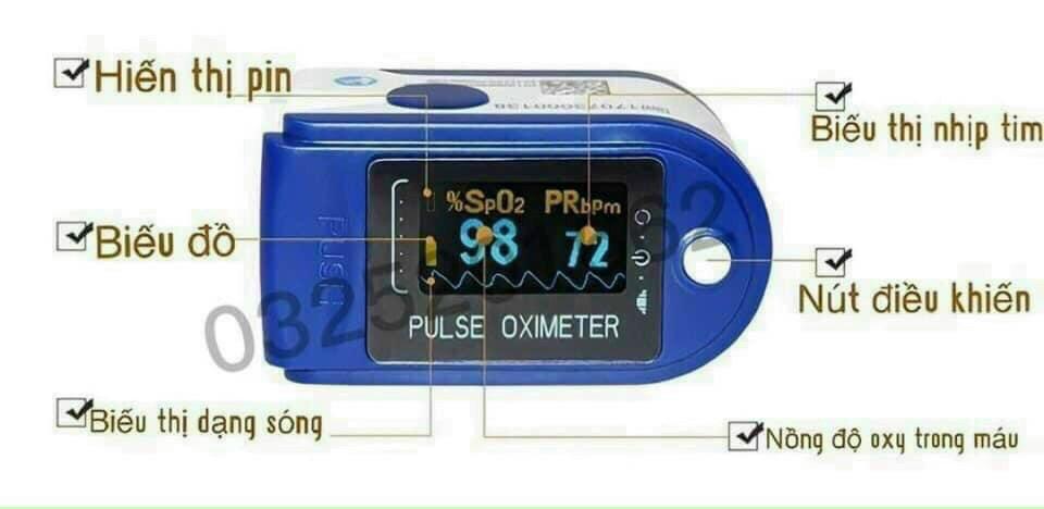 Máy đo SPO2 ( độ bão hoà oxy trong máu )